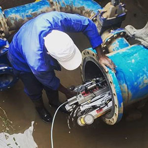 Pipe inspection with tethered robotic crawlers