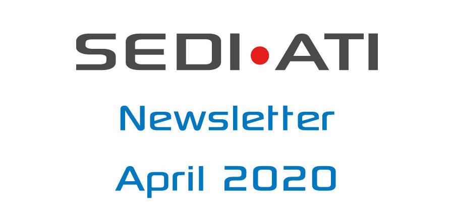 Logo Newsletter of SEDI-ATI dated April 2020