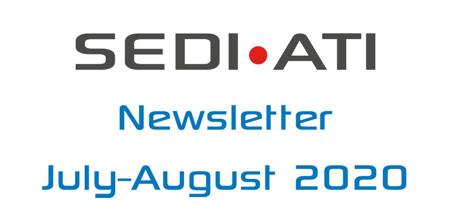 Logo Newsletter of SEDI-ATI dated July and August 2020