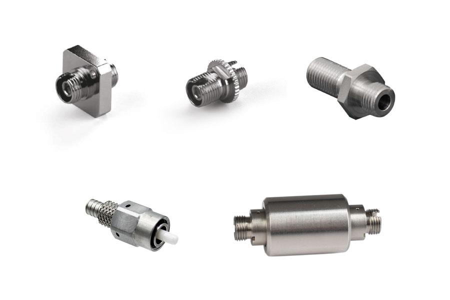 Fiber optic connectors and adapters